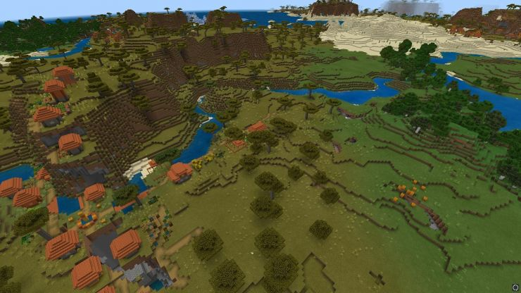 Best Minecraft Bedrock Seed Of 1 14 1 Exposed Stronghold With Three Villages And Diamonds